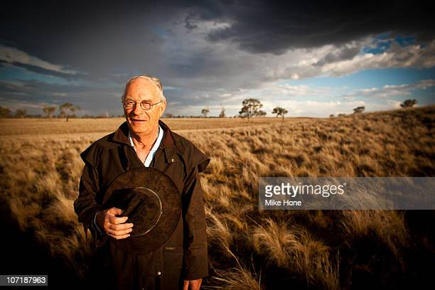 Sandy Hone at his farm
