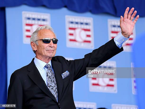Sandy Koufax attends the Hall of Fame Induction Ceremony at National Baseball Hall of Fame on July 26 2015 in Cooperstown New York Craig BiggioPedro...
