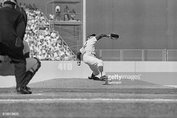Sandy Koufax pitches the Dodgers into a 32 lead over the Minnesota Twins will fourhit shut out striking out ten batters on the way The win gave the...