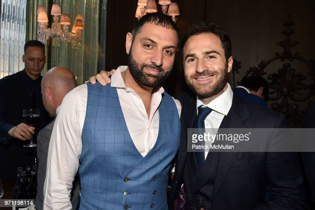 Sandy Lal and Philippe Vasilescu attend Christopher R King Debuts New Luxury Brand CCCXXXIII at Baccarat Hotel on June 5 2018 in New York City