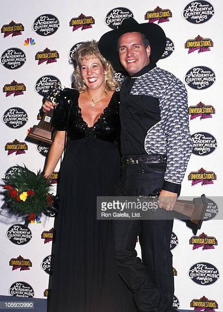 Sandy Mahl and Garth Brooks during 27th Annual Academy of Country Music Awards at Shrine Auditorium in Los Angeles California United States