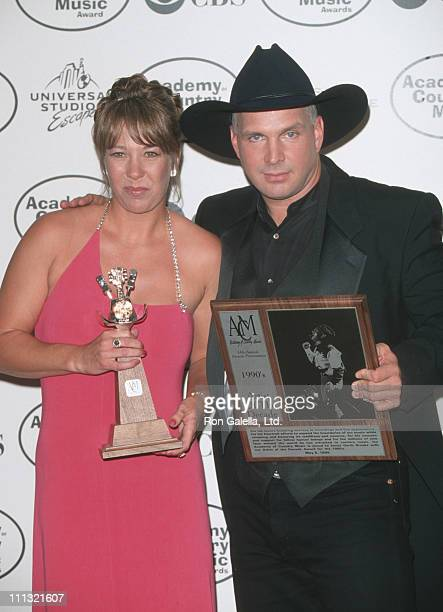 Sandy Mahl and Garth Brooks during 34th Annual Academy of Country Music Awards at Universal Ampitheater in Universal City California United States