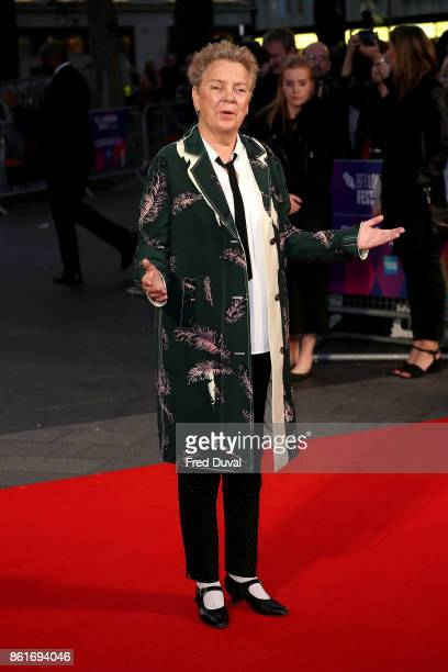 Sandy Martin attends the UK Premiere of 'Three Billboards Outside Ebbing Missouri' at the closing night gala of the 61st BFI London Film Festival on...