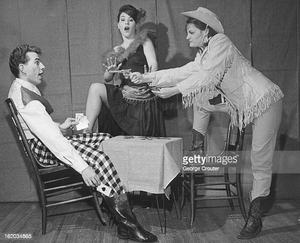 MAR 31 1965 APR 8 1965 APR 11 1965 Sandy McDoan the gambler is surprised when Calamity Jane discovers him cheating at cards and gives him his...