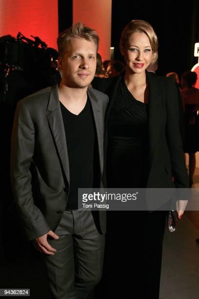 Sandy MeyerWoelden and boyfriend Oliver Pocher attend the aftershow party of 'Ein Herz fuer Kinder' Gala at Studio 20 at Adlershof on December 12...