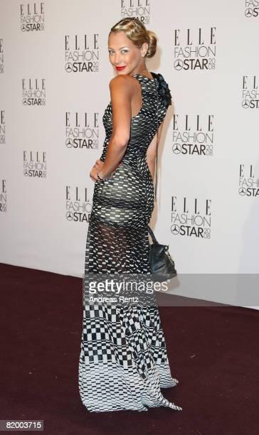 Sandy MeyerWoelden arrives at the ELLE Fashion Star award ceremony during Mercedes Benz Fashion Week Spring/Summer 2009 at the Tempodrom on July 19...