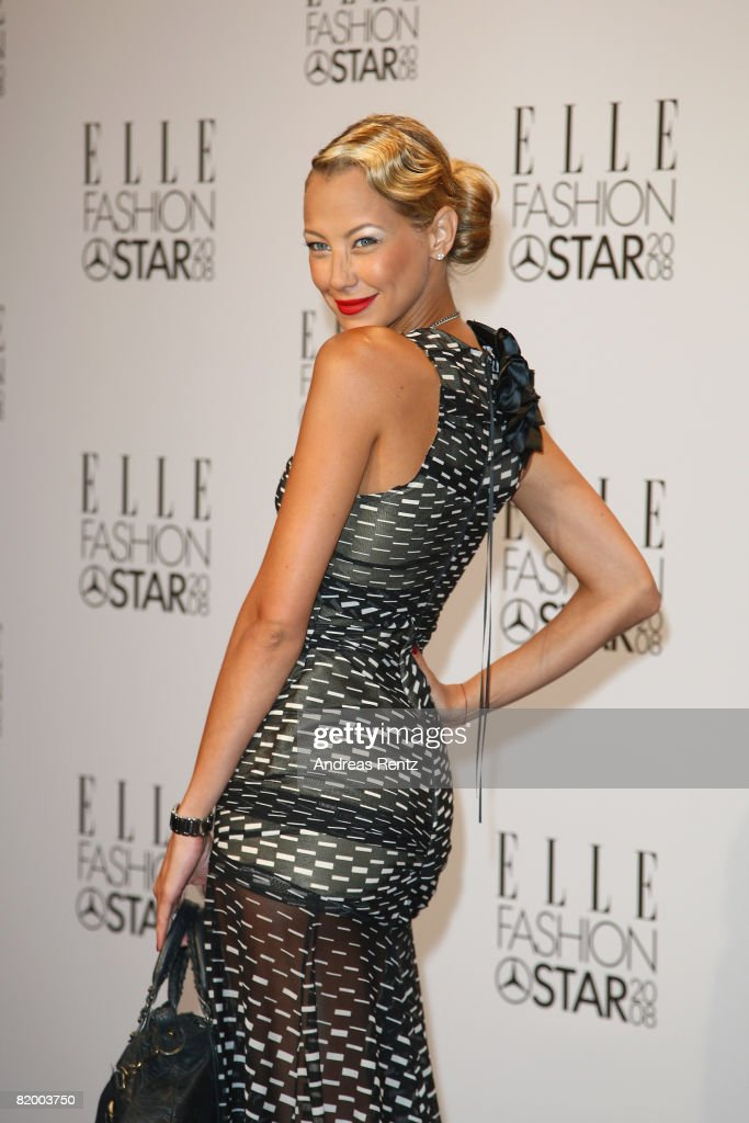 Sandy Meyer-Woelden arrives at the ELLE Fashion Star award ceremony during Mercedes Benz Fashion Week Spring/Summer 2009 at the Tempodrom on July 19, 2008 in Berlin, Germany.