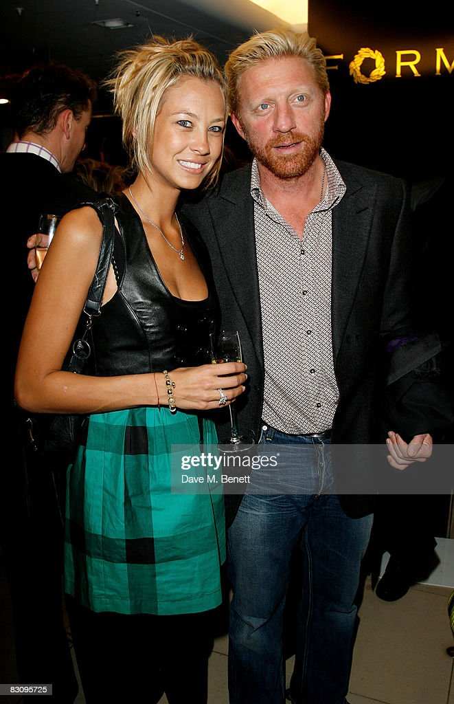 Sandy Meyer-Wolden and Boris Becker attends the launch party for Form Menswear, at Harrods on October 2, 2008 in London, England.