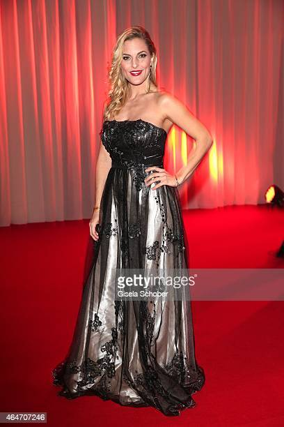 Sandy Moelling Member of No Angels during the Goldene Kamera 2015 reception on February 27 2015 in Hamburg Germany