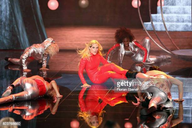 Sandy Moelling performs on stage during the 1st show of the television competition 'Dance Dance Dance' on July 12 2017 in Cologne Germany The first...