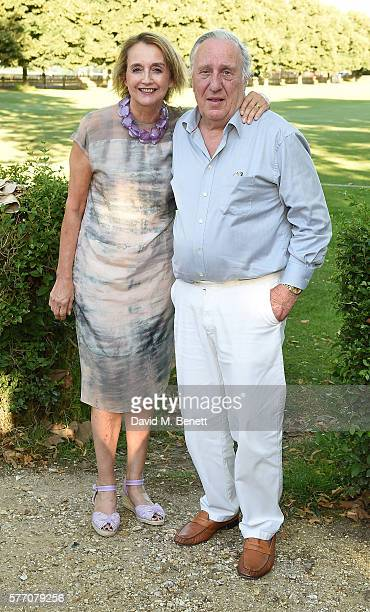 Sandy Molloy and Frederick Forsyth attend The Frost family final Summer Party to raise money for the Miles Frost Fund in partnership with the British...