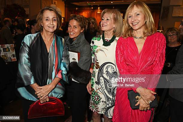Sandy Molloy Lucy Tang Lady Annunziata Asquith and Lizzie Spender attend a champagne reception to celebrate the launch of Mandarin Oriental The Book...