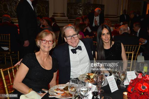 Sandy Peinado Stephen Dizard and Lindsey Stone attend Ballet Hispánico's CARNAVAL Gala 2019 at The Plaza Hotel on May 6 2019 in New York City