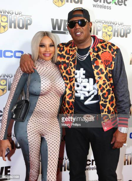 Sandy Pepa Denton and Master P attend WEtv and The Cast of Growing Up Hip Hop screening event and celebration at The London West Hollywood on May 22...