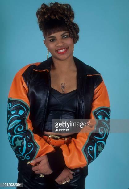 "Sandy ""Pepa"" Denton of the Hip-Hop group Salt 'N Pepa appears in a portrait taken on March 1, 1992 in Queens, New York."