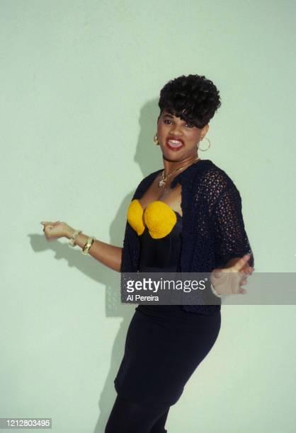 "Sandy ""Pepa"" Denton of the Rap group Salt 'N Pepa appears in a portrait taken in New York City on September 2, 1990."