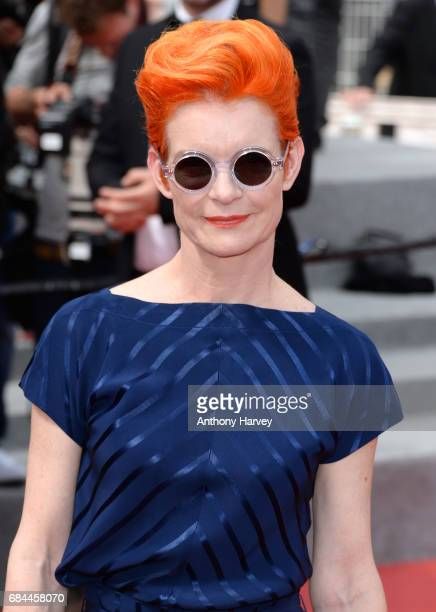 Sandy Powell attends the 'Wonderstruck ' screening during the 70th annual Cannes Film Festival at Palais des Festivals on May 18 2017 in Cannes France