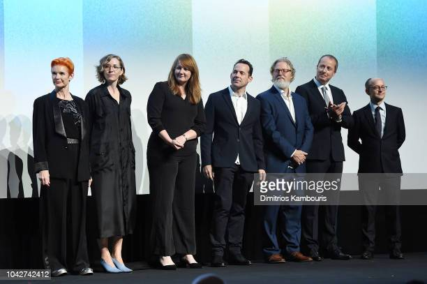 Sandy Powell Fiona Crombie Nadia Stacey Andrew Lowe and Ed Guiney attend the opening night premiere of The Favourite during the 56th New York Film...