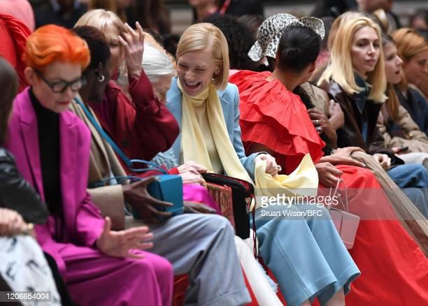 Sandy Powell Sheila Atim Joely Richardson Vanessa Redgrave Cate Blanchett Zawe Ashton Billy Porter and Sabine Getty sit front row for the Roksanda...
