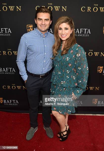 Sandy Shenkman and actress Denah Angel attend the BAFTALA Summer Garden Party at The British Residence on August 19 2018 in Los Angeles California