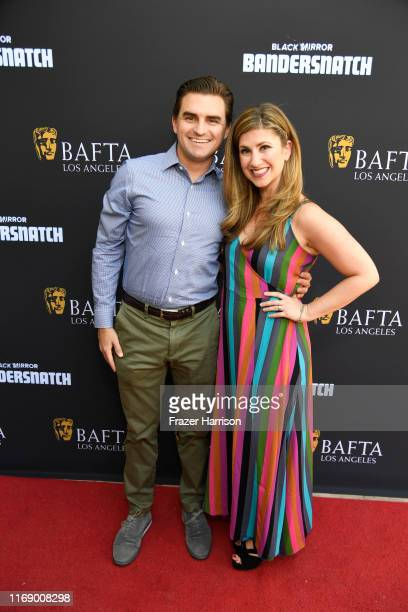 Sandy Shenkman and Denah Angel Shenkman attend BAFTA Los Angeles Garden Party at The British Residence on August 18 2019 in Los Angeles California