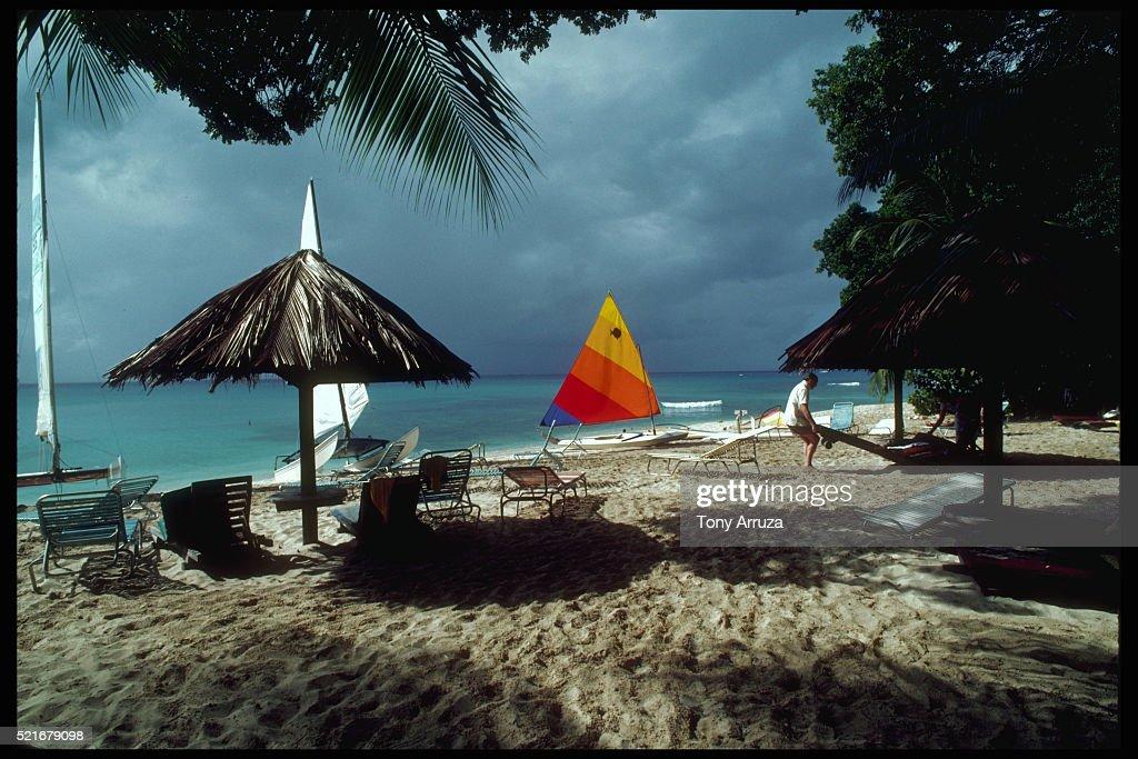 Sandy Ss Alongside Tamarine Beach Hotel Barbados Stock Photo