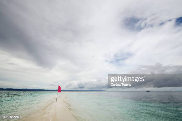 Sandy spit of Calanaggaman Island, Philippines