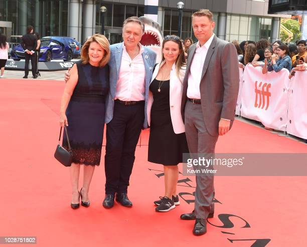 Sandy Stewart Brian Stewart Alexandra Stewart and Roger Rueisuli attend the 'Sharkwater Extinction' premiere during 2018 Toronto International Film...