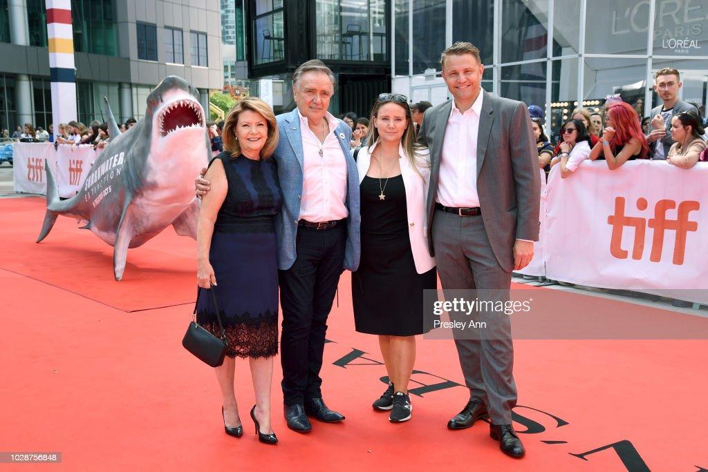 Sandy Stewart, Brian Stewart, Alexandra Stewart, and Roger Rueisuli attend the 'Sharkwater Extinction' premiere during 2018 Toronto International Film Festival at Roy Thomson Hall on September 7, 2018 in Toronto, Canada.