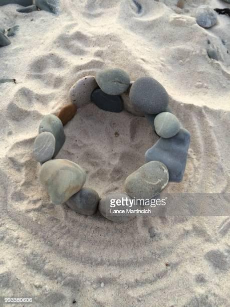 Sandy stone circle