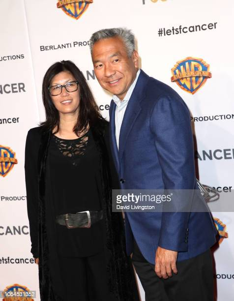 Sandy Tsujihara and chairman and CEO of Warner Bros Entertainment Kevin Tsujihara attend FCancer's 1st Annual Barbara Berlanti Heroes Gala at Warner...