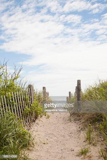 Sandy walkway path to beach