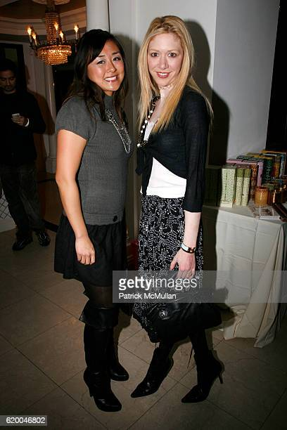 Sandy Wang and Melissa Berkelhammer attend TRACY STERN MINAJACQUELINE AU ANISHA LAKHANI GILLIAN HEARST host LUXE CAUSE at Private residence on...