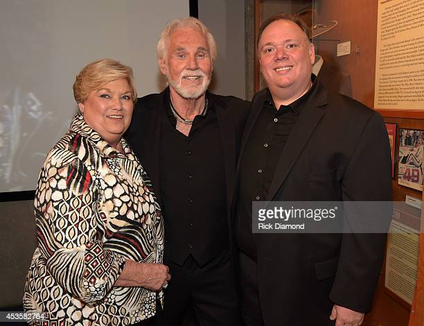 Sandy Webster Country Music Hall of Fame member Kenny Rogers and Publicist Kirt Webster attend the Country Music Hall of Fame Kenny Rogers Exhibit...