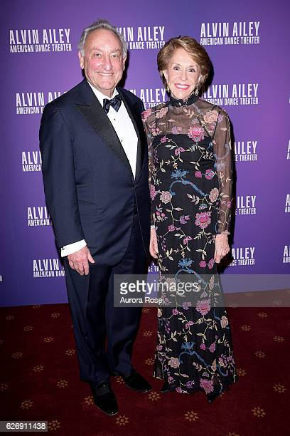 Sandy Weill and Joan Weill attend Alvin Ailey American Dance Theater Opening Night Gala Benefit 'An Evening of Ailey and Jazz' at New York City...