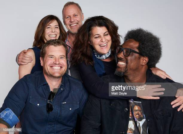 Sandy Zweig Morgan Fallon Chris Collins Lydia Tenaglia and W Kamau Bell of CNN's Anthony Bourdain Parts Unknown pose for a portrait during the 2018...