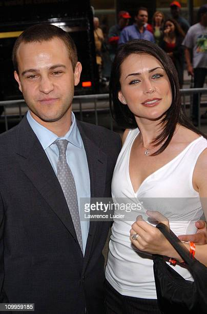 Sanford Bookstaver and Rena Sofer during ABC 2004/2005 Primetime Upfront Arrivals at Cipriani's in New York City New York United States