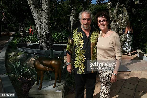 Sanford Decker and Karen Decker attend Trigg Ison Fine art exhibit for the work of Maxine Kim StussyFrankel at her home June 28 2008 in Los Angeles...