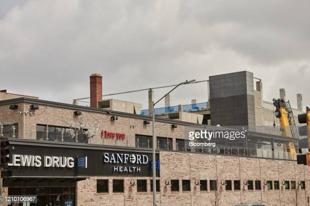Sanford Health signage is displayed on a building in Sioux Falls South Dakota US on Wednesday April 15 2020 South Dakota Governor Kristi Noem has...