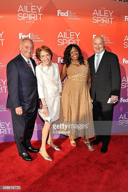 Sanford I Weill Joan Weill Angela Kissane and Robert Kissane attend the 2016 Ailey Spirit Gala at David H Koch Theater at Lincoln Center on June 8...