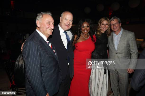 Sanford I Weill Robert Kissane and Angela Kissane pose with guests at the 2017 Ailey Spirit Gala at David H Koch Theater at Lincoln Center on June 15...