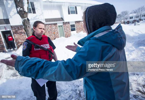 Sanford paramedic Anna Allard speaks with Angel Cabana while responding to a possible heroin overdose on Bates Street on Thursday Feb 16 2017 Cabana...