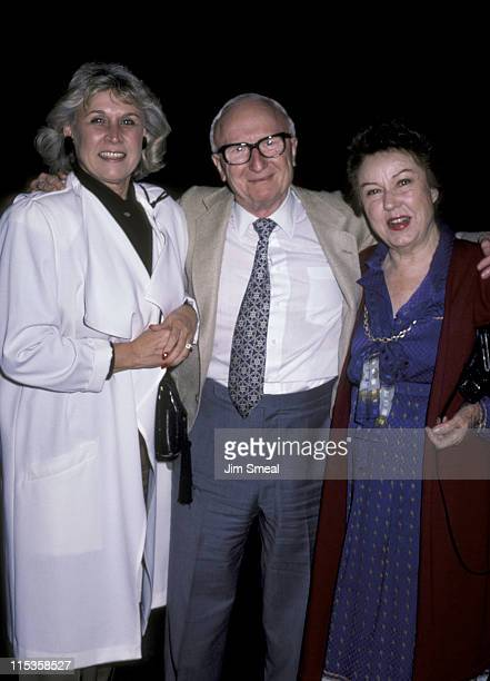 Sanford Rothenberg and Fay Wray during Sanford Rothenberg and Fay Wray At Spago's November 8 1985 at Spago's in Beverly Hills California United States