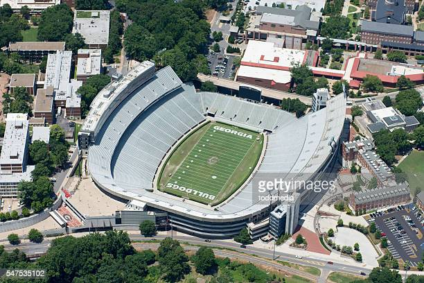 sanford stadium, georgia bulldogs - athens georgia stock pictures, royalty-free photos & images