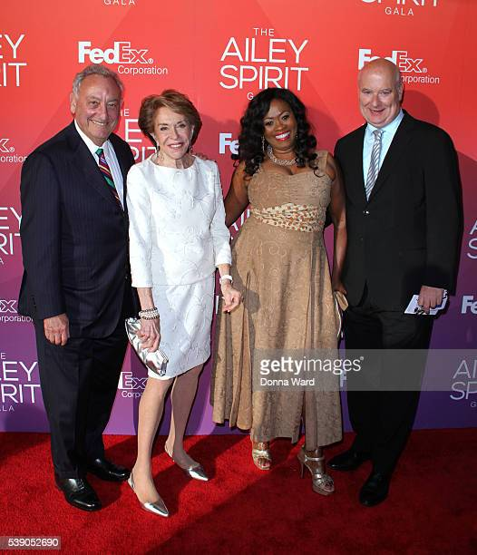 Sanford Weill Joan Weill Angela Kissane and Robert Kissane attend the 2016 Ailey Spring Gala at David H Koch Theater at Lincoln Center on June 8 2016...