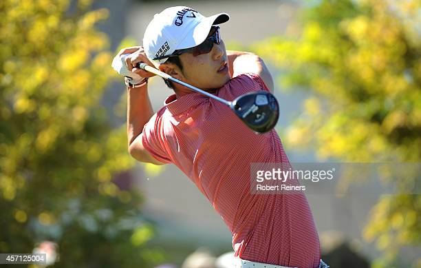Sang-Moon Bae of South Korea hits his tee shot on the first hole during the final round of the Frys.com Open at Silverado Resort and Spa on October...