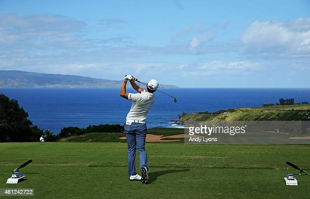 Sang-Moon Bae of South Korea plays his shot from the 11th tee during round one of the Hyundai Tournament of Champions at Plantation Course at Kapalua...