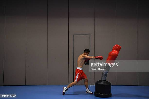 Sangmyeong Ham of Republic of Korea works out in a boxing training session at Rio Centro on August 5 2016 in Rio de Janeiro Brazil