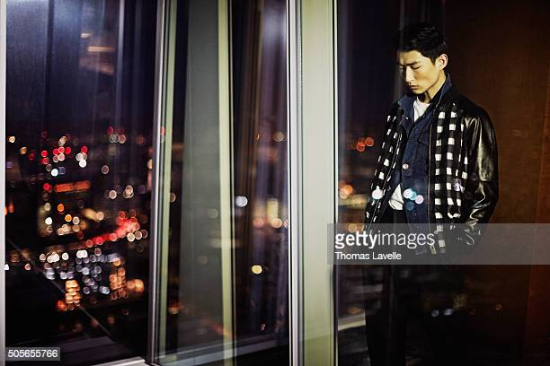 Sangwoo Kim is photographed for The Rake on December 16, 2014 in Paris, France.
