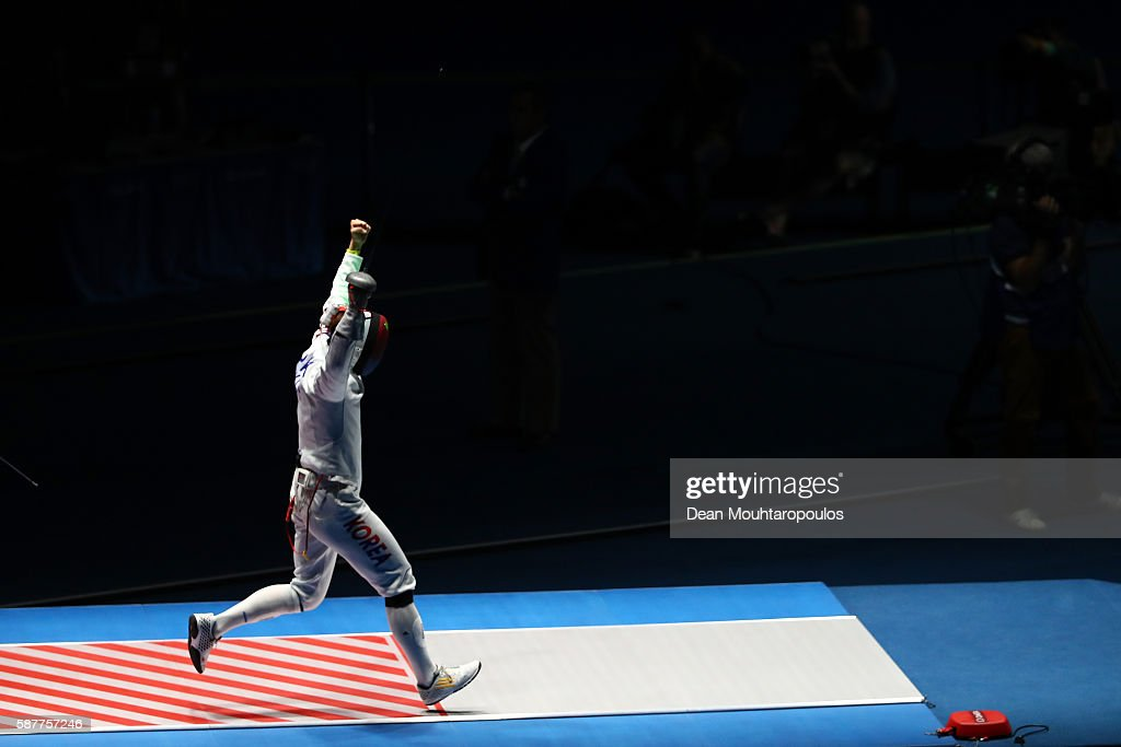 Sangyoung Park Of Korea Reacts After Defeating Benjamin Steffen Of News Photo Getty Images